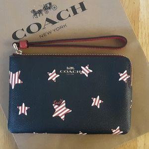 NWT Coach Americana Star Print Wristlet